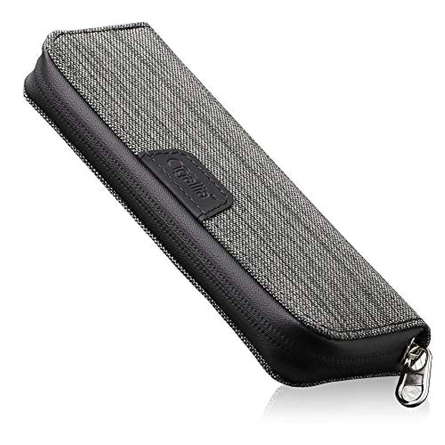 安心させるたっぷりタイムリーなCigallia(シガリア) Clothケース PLUS 2本収納 防滴 プルームテックケース プラス 対応 ケース 帆布生地 3R SYSTEMS グレー