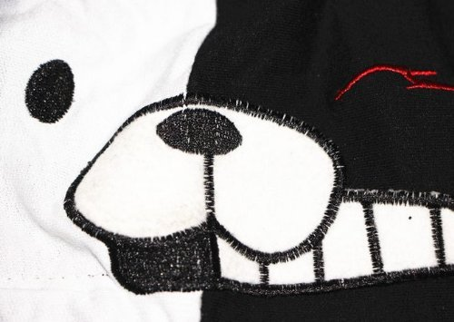Dangan and desperate high school black polar bear monokuma short sleeve Jersey / Parker cosplay costume [m]
