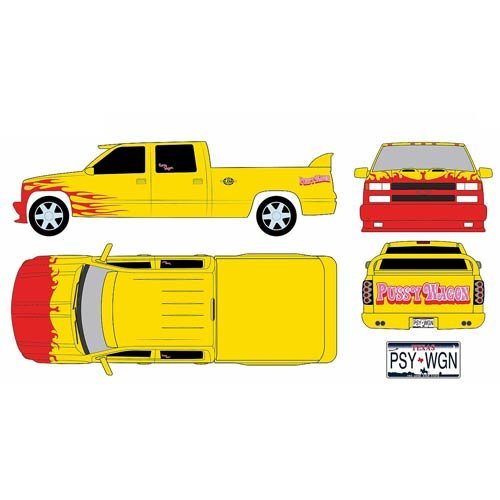 Kill Bill 1997 Chevrolet C-2500 Crew Cab Silverado Pussy Wagon 1:18 Scale Artisan Collection Die-Cast Metal Vehicle [並行輸入品]
