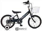 【片足スタンド付】 リーズポート(REEDSPORT) 16インチ モスグリーン 補助輪付き 組み立て式 幼児用自転車 ステップアップセット