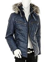 ダウンジャケット メンズ 冬 フード 中綿 ジャケットメンズ ダウン フェイクレザー 中綿ジャケット メンズ 湿式pu レザージャケット