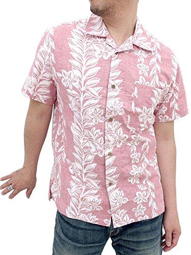 (ルーシャット)ROUSHATTE アロハシャツ 綿裏使い 20color L レンガ