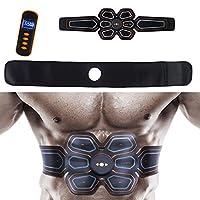 男性と女性のためのウエストトリマー腹部、筋肉刺激装置、USB充電式筋肉トナーのホームオフィスとフィットネス機器,2