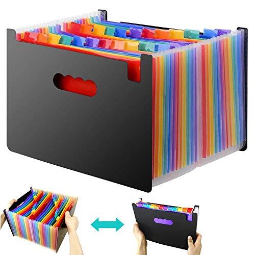 XIANRUI ドキュメントファイル ドキュメントスタンド ファイルボックス A4 書類ケース オフィス 整理 書類 収納 (24ポケット)