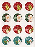 (ジュエリーエンジェル) JEWELRY ANGEL クリスマス サンタ ツリー 雪だるま ラッピング ギフト 贈り物 イベント プレゼント シール 4種類 1シート 12片入り 10シート セット