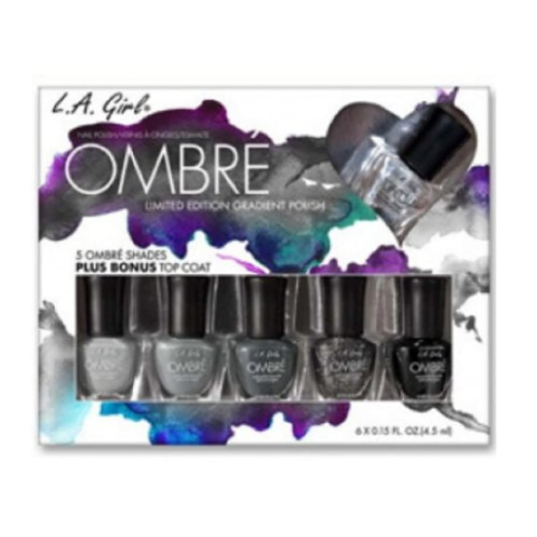 フォーマル悪のターミナル(3 Pack) L.A. GIRL Ombre Limited Edition Gradient Polish Set - Midnite (並行輸入品)