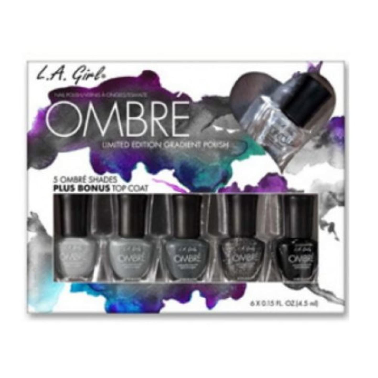 行進物思いにふける祝福する(3 Pack) L.A. GIRL Ombre Limited Edition Gradient Polish Set - Midnite (並行輸入品)