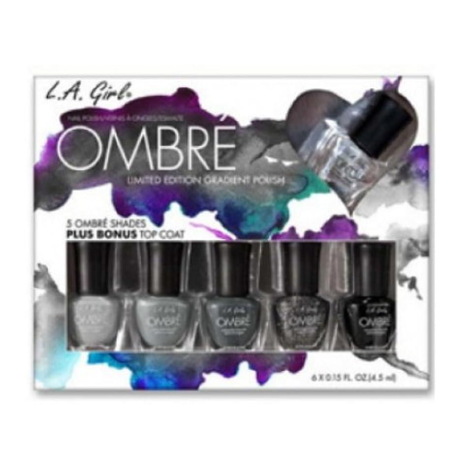 人事投げ捨てる鉱夫(6 Pack) L.A. GIRL Ombre Limited Edition Gradient Polish Set - Midnite (並行輸入品)