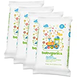 Babyganics Toy Table & Highchair Wipes 25 Count 4 Pack