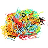 MagiDeal Mini Hair Bands Girl Baby's Elastic Hair Ties Tiny Soft Rubber Bands for Baby Kids (Assorted Colors) About 380-400 Hair Rubber Rings