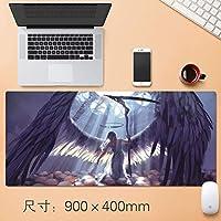 Xfwj 拡張大型アニメ厚みのゲーミングマウスパッド日本のアニメゲームデスクマットプロフェッショナルEsportsもクリエイティブ日本のアニメ悪魔スレイヤーKimetsuラバーベース90 * 40センチメートル (Size : Thickness: 4mm)