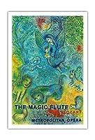 魔笛 - モーツァルト - METオペラハウス - ビンテージな広告ポスター によって作成された マルク・シャガール c.1966 - アートポスター - 76cm x 112cm