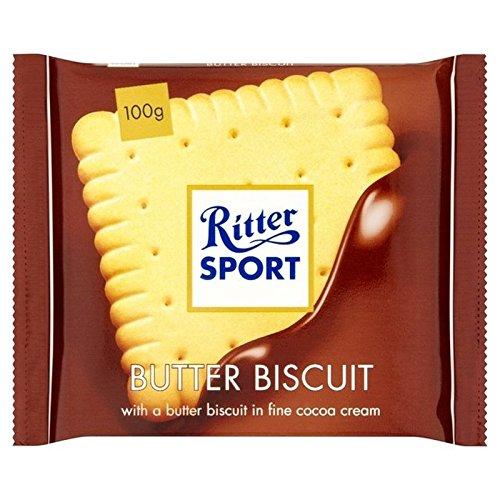 リッタースポーツバタービスケットミルクチョコレート100グラム - Ritter Sport Butter Biscuit Milk Chocolate 100g [並行輸入品]