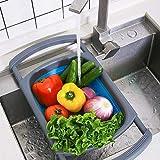 Kitchen Collapsible Colander, Colander Collapsible Silicone,Colander Strainer Over The Sink Vegetable/Fruit Colanders Straine