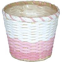 大橋新治商店 ハンドメイド バスケット Bamboo&Paper Basket ラフィア D5号 ピンク 20-755