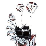 WORLD GOLF(ワールドゴルフ) ワールドイーグル WE-5Z メンズゴルフセット【ホワイト】R+【ホワイト/レッド】J-F-01α スタンドバッグ  5z-w/r+f-01 w/r