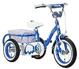 Raychell TRIA 子供三輪車[フロントブレーキ/リアバスケット/フロントフェンダー/チェーンケース/ハンドルバーパッド標準装備]ブルー