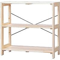 アイリスオーヤマ ラック 木製 幅83.5×奥行35×高さ80cm ウッディラック クリア WOR-8308