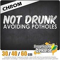 Not drunk - avoiding potholes - 3つのサイズで利用できます 15色 - ネオン+クロム! ステッカービニールオートバイ
