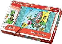 Trefl、ヨーロッパマップ、200ピースJigsaw–パズルbyパズル