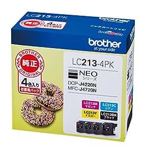 brother インクカートリッジ お徳用4色パック LC213-4PK