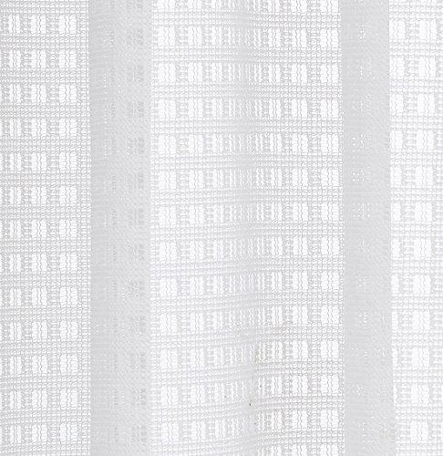 ユイツはブランド品 既製遮光(紫外線)レースカーテン 昼間中から見えて外から見えにくい、夜も透けにくいミラーレースカーテン & UVカットミラーレースカーテン 装飾ホーム、ウインドウ窓、寝室、居間、子供の部屋用 1組2枚入り 幅100cmⅹ丈175cm アジャスタフク付け アイボリー色