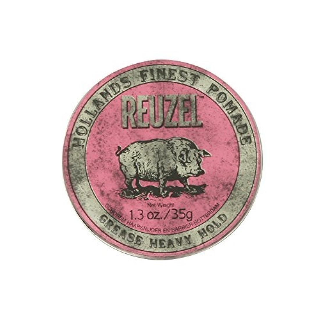 叫び声追記支援Reuzel Pink Grease Heavy Hold Pomade Piglet 1.3oz by REUZEL [並行輸入品]