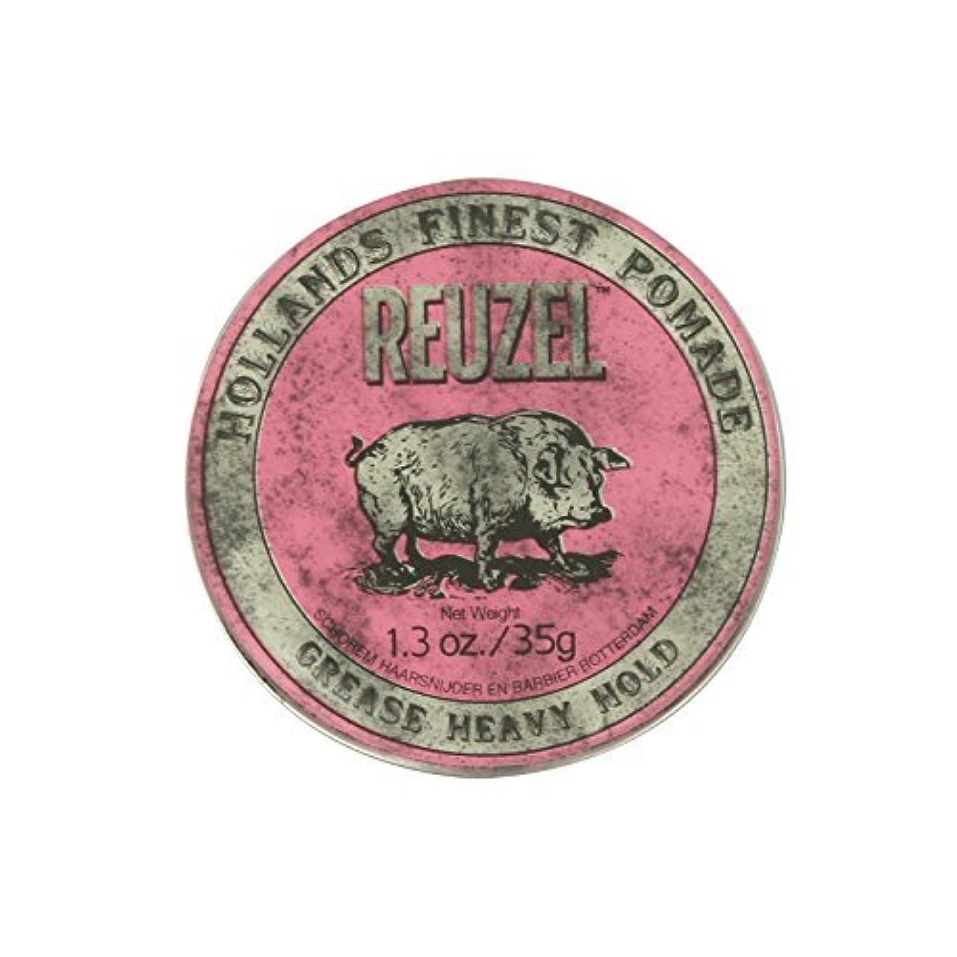 反毒甘い針Reuzel Pink Grease Heavy Hold Pomade Piglet 1.3oz by REUZEL [並行輸入品]