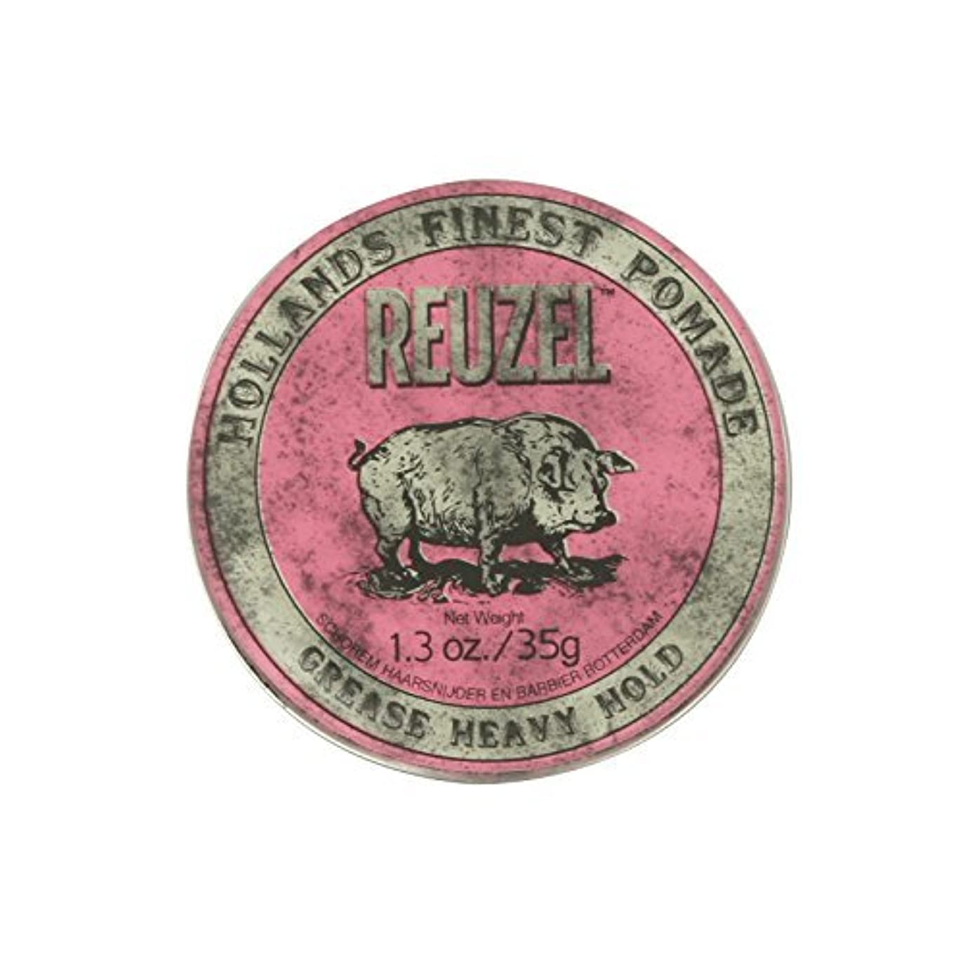 トロピカルマインド敬の念Reuzel Pink Grease Heavy Hold Pomade Piglet 1.3oz by REUZEL [並行輸入品]