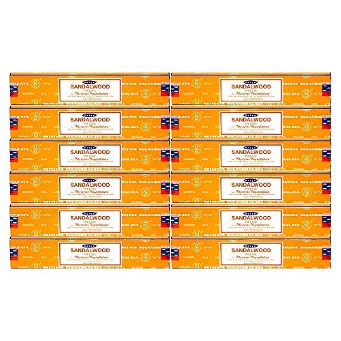 パック医薬見ましたSatya Nag Champa Sandalwood Incense Sticks - Box 12 Packs by Satya