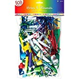 Fun Rainbow Birthday Party Horns and Blowouts 50 Pieces Made from Plastic Rainbow Party 15 x 9 3/8 by Amscan [並行輸入品]