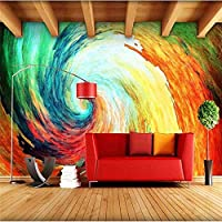 Xueshao 3D現代色渦壁画アート抽象的な壁布リビングルームオフィスルーム防水壁紙-350X250Cm