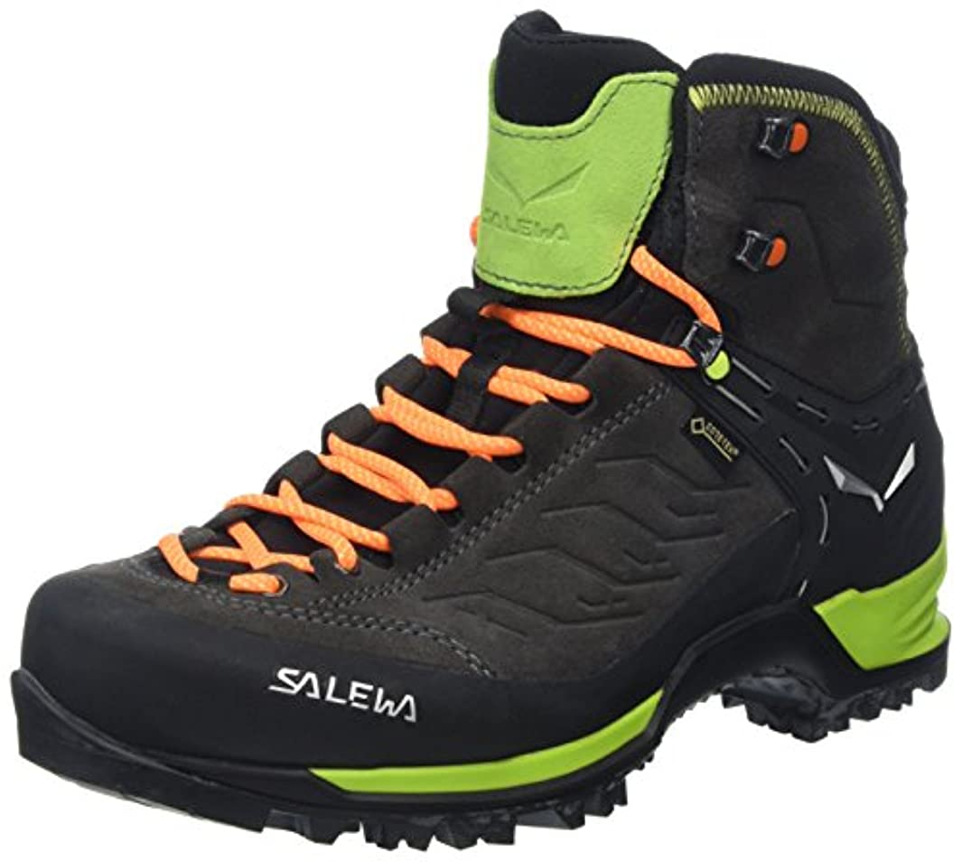エステート市民権先に[サレワ]Salewa Mountain Trainer Mid GTX Hiking Boots - メンズ デイハイキングブーツ CHARCOAL/PAPAVERO [並行輸入品]
