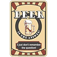 Signs 4 Fun SPSBR23 Beer Is the Answer Small Parking Sign [並行輸入品]