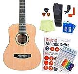 ミニギター アコースティックギター Antique Noel AM-0 初心者 入門 12点 セット アンティークノエル NAT 〔98765〕
