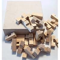 国産ひのきの積み木60ピース 木のおもちゃ(知育ブロック)  誕生日 クリスマスプレゼント 四国徳島県産