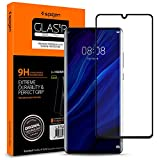 【Spigen】 (1枚入) Huawei P30 Pro ガラスフィルム 6.5インチ用 全面保護フィルム 液晶強化ガラス 【フルカバー】 曲面スクリーン対応 9H硬度 撥油加工 飛散防止 Glas.tR Curved ガラスフィルム L37GL25745(ブラック)