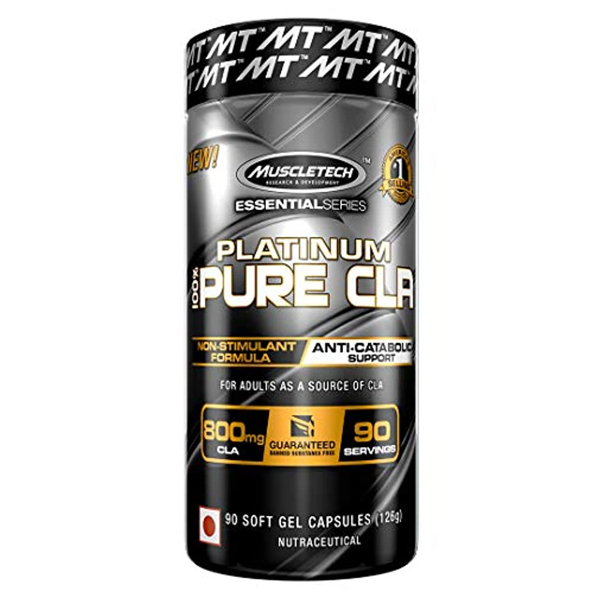 Muscletech プラチナムピュアCLA 90カプセル (Platinum Pure CLA, 90 Soft Gel Caps)
