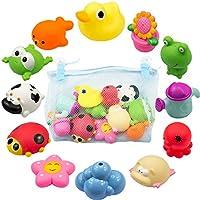水遊び お風呂遊び お風呂 おもちゃ シャワー 水あそび 赤ちゃん かわいい動物  12個セット