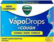 VICKS VapoDrops + COUGH Honey Lemon Menthol 16 Cough Lozenges