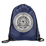 The All Seeing Eye Drawstring Gym Sack Bag One Size
