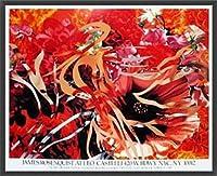 ポスター ジェームズ ローゼンクイスト Pearls Before Swine Flowers before Flames 1990年 限定1000枚 額装品 ウッドベーシックフレーム(ブラック)