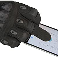 Hqeupiao Touch Screen Tactical Military Hard Knuckle Full Finger Gloves for Army Airsoft Paintball Combat Hunting Riding Motorcycle Cycling Bicycle Shooting Work Gear