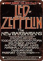 Shimaier 壁の装飾 メタルサイン 1979 LED ZEPPELIN at Knebworth 3 ウォールアート バー カフェ 縦20×横30cm ヴィンテージ風 メタルプレート ブリキ 看板