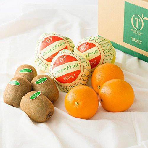 新宿高野 Day Fruit デイフルーツセットE #29100 [グレープフルーツ×3/オレンジ×3/キウイフルーツ×4] フルーツ 果物 つめあわせ セット