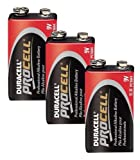 DURACELL PROCELL エフェクター角電池/006P(9V) プロ仕様楽器用アルカリ デュラセル/プロセル3個パック