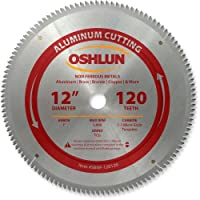 Oshlun SBNF-120120 12-Inch 120 Tooth TCG Saw Blade with 1-Inch Arbor for Aluminum and Non Ferrous Metals [並行輸入品]