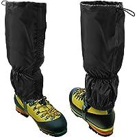 CampTeck U6843 Waterproof Walking Gaiters Polyester (One Size Fits All) Hiking, Walking, Orienteering, Mountaineering, Climbing, Hunting, Snow or Wet Outdoor Adventure - 1 Pair in Black