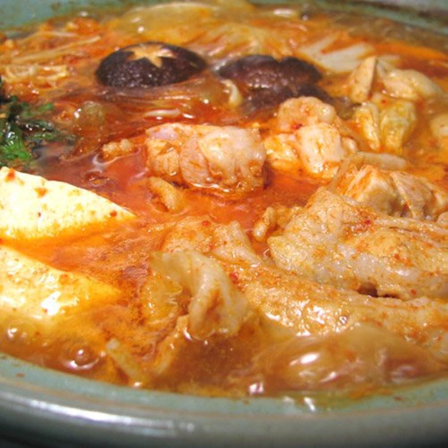 抜本的なお告白する水郷のとりやさん 国産 鶏肉 韓国風 キムチ チゲ鍋セット (肉とスープのセット) 銘柄鶏 水郷どり 使用
