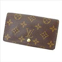ルイヴィトン Louis Vuitton L字ファスナー財布 二つ折り ユニセックス ポルトモネビエトレゾール M61730 モノグラム 中古 人気 激安 Y1644